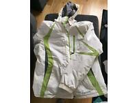 White parallel ladies ski jacket