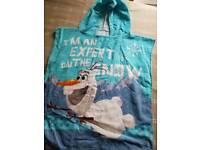 Frozen swim poncho