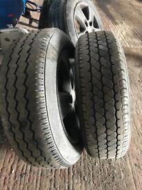 Breaking vivaro bull bar side bars 2 sets off alloys with brand new van tyres