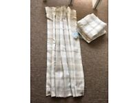 Dunelm Highland Check Pencil Pleat Lined Curtains
