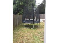 8 foot trampoline with net enclosure and spring covers
