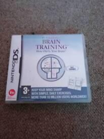 3 x D. S game brain training