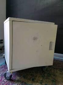 Industrial steel cabinet with castor wheels