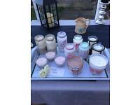 Various handmade candles.