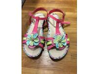 Pavers Leather sandles size 5 new