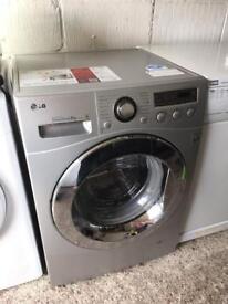 Silver LG 8kg 1400 Spin Washing Machine Fully Working Order Vgc Just 125 Sittingbourne