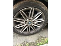 BMW m sport one series alloys full set with tyres