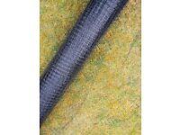 Black plastic netting/ mesh roll 2m wide