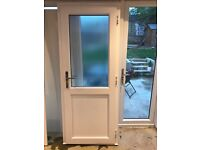 Used upvc double glazed back door