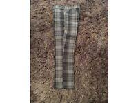 Slazenger Water Resistant Teflon Grey Tartan Golf Trousers Size 32 waist
