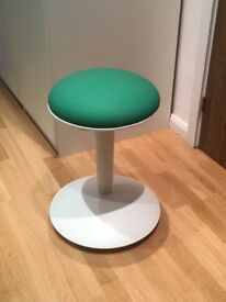 Brand new Ikea Nilserik standing support stool in green/white