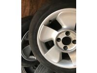 ford puma fanblade alloy wheels 4x108 escort focus fiesta x3 used with tyres 15""
