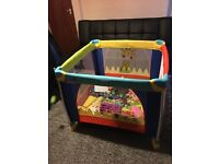 Kids cot bed or a safe soft play