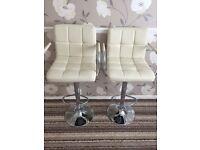 Cream bar stool x2 like new
