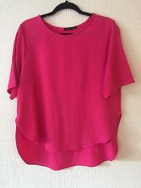Gorgeous hot pink top 14/16