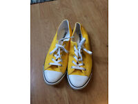 "Women's Converse ""All Star"" Trainers-Yellow-Size 6"