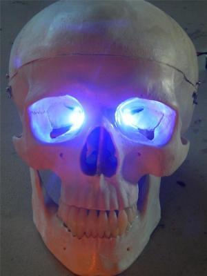 HALLOWEEN PROP BLUE LED EYES FOR MASK OR SKULL