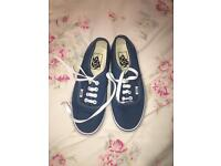 Brand new Blue vans size 5