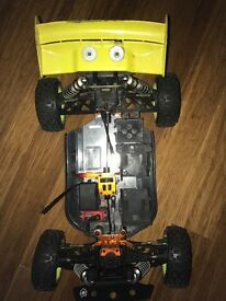 1/8 rc hpi Trophy Flux buggy Rolling Chassis with upgrades inc vorza shocks