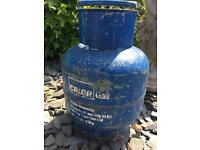 Calor gas bottle , full Blue butane 4.5 kg bottle.