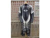 Axo 1-Piece Motorcycle leathers. Black, Grey and White. UK size 40