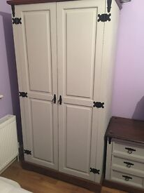 Walnut and grey wardrobe set- perfect condition
