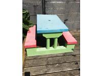 Children's picnic table