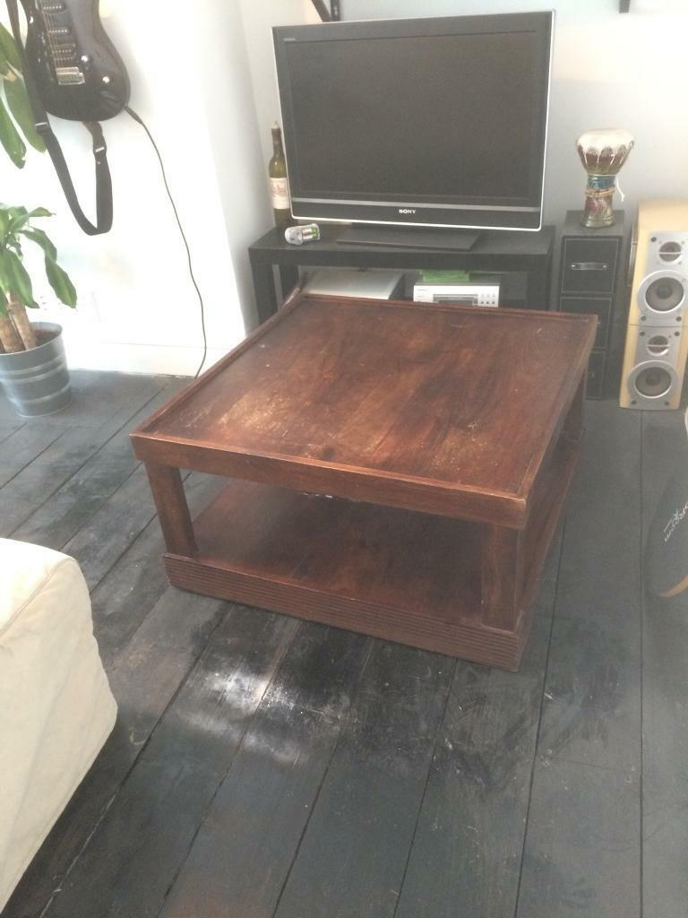 Vintage solid wooden coffee table