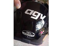 Agv airtech black motorbike helmet large