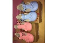 Girls pink and blue paton shoes
