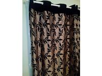dunelm mill silk and velvet ring top curtains 66x72 inches rrp 60