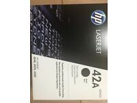 HP 42A laserjet cartridge black