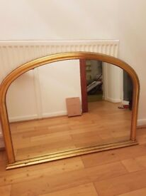 Large over mantle mirror