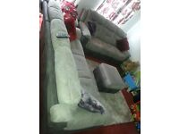 Newly X2 three seater electric and manual fabric recliner sofas