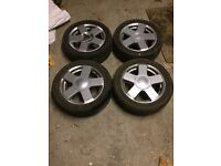 FORD FIESTA ALLOY WITH 3 GOOD TYRES FOR SALE