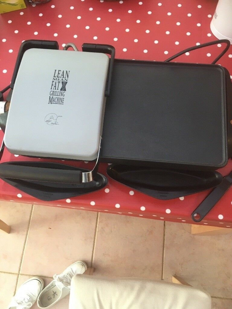 George foreman griddle and grill plate .