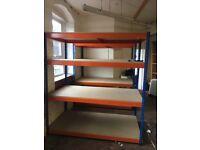 Rapid 1 industrial longspan shelving 2.3m high HD ( pallet racking , storage )