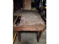 Vintage Industrial Sewing Machine table- Workbench