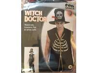 Men's witch doctor Halloween costume M