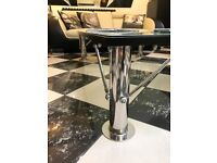 LARGE GLASS / CHROME COFFEE TABLE