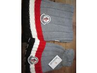 Moncler hat and scarf set Grey