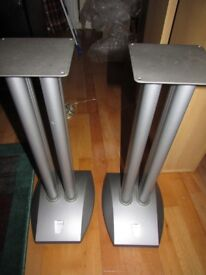 ALPHASON SILVER Speaker Stands 5 kg each stand 25 inches high