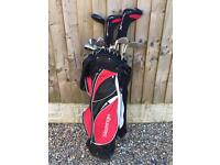 Slazenger full set golf clubs and bag