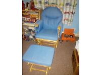Nursery Rocking Chair and Footstall