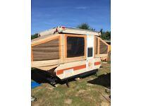 Bonair hardtop trailer tent (pop up camper)