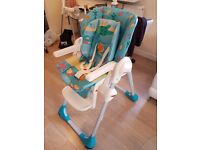 MINT condition Chicco Poly 2-in-1 highchair for sale.