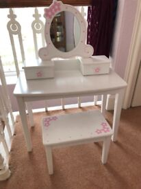 Children's dressing table and stool