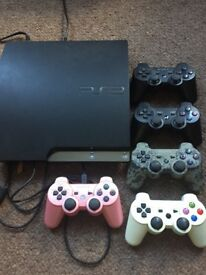 PS3 slim 320GB, 37 games, 5 controllers!!!