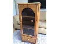 Corndell Harvest Range Antique Pine Tall Hi-Fi Media Display Cabinet Very Good Condition