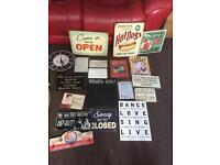 Bundle of house signs
